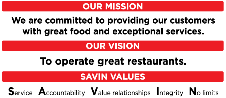 Savin Mission and Values